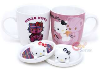 Sanrio Hello Kitty Mug Coffee Cup Set w/Lid Bear Love