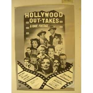 Hollywood Outtakes Poster Marilyn Monroe Ronald Reagan