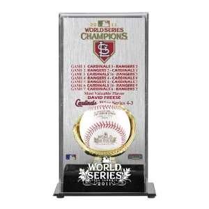 St. Louis Cardinals Gold Glove Baseball Display Case   2011