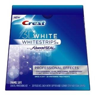Crest 3D White Whitestrips Dental Whitening Kit, Professional Effects