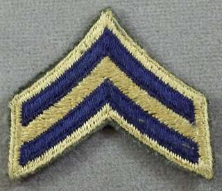 Army Combat Sleeve Rank Insignia Corporal / Korean War