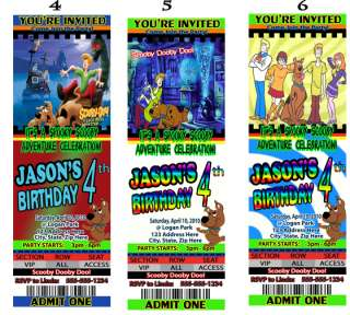 Scooby Dooby Doo Birthday Party Invitations Favors