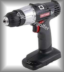 New Craftsman 19.2 Volt Heavy Duty Cordless Drill 19.2V C3 3/8 Inch