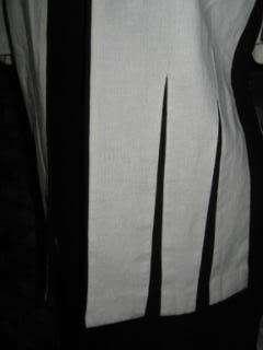 VINTAGE 80s CHIC BLACK & WHITE DRESS SUIT OUTFIT M 10