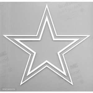 Dallas Cowboys   Logo Cut Out Decal Automotive