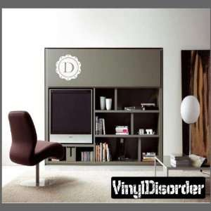 Border Letter D Monogram Letters Vinyl Wall Decal Sticker Mural Quotes