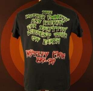 Motley Crue 89 90 TOUR T shirt Og PUSHEAD Dr Feelgood 80s vtg Concert