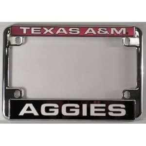 Texas A&M Aggies NCAA Chrome Motorcycle RV License Plate