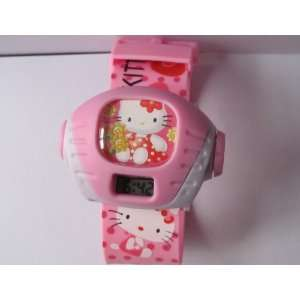 1 Piece Hello Kitty Projection Image LCD Watch Bracelet