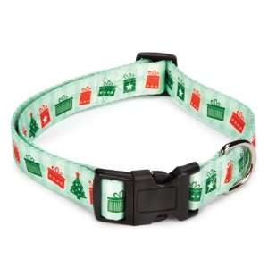 Casual Canine Polyester Holly Jolly Dog Collar and Lead Set, 18 to 26