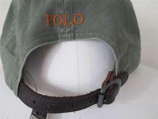 Polo Ralph Lauren RL Khaki Green Adjustable Cap/Hat
