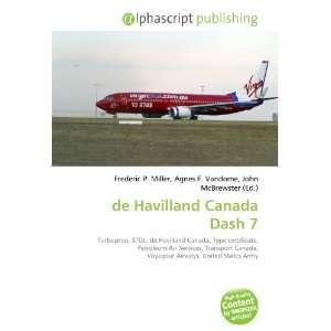 de Havilland Canada Dash 7 (9786132658159): Books