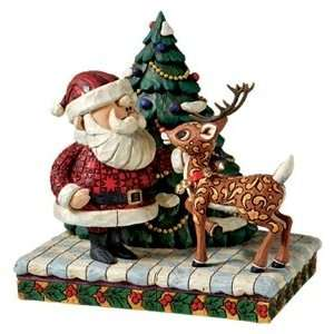 Jim Shore Rudolph & Santa Figurine