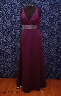 DaVinci Purple Satin Deep V Front Formal Dress 18 NWT