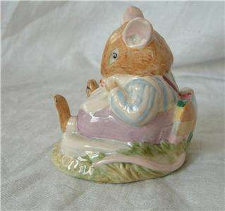 Doulton Brambly Hedge MR TOADFLAX Mouse Figurine DBH 10 1983