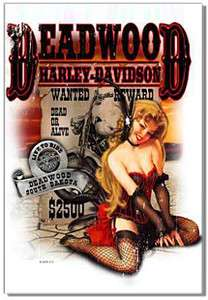 Deadwood pin up girl motorcycle fridge magnet