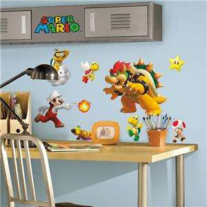 NINTENDO SUPER MARIO WALL DECALS Kids Room Decorations Stickers Decor