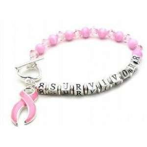 Pink Cancer Awareness Survivor Bracelet