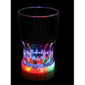 Package of 6 LED Multi Color Light up Party Acrylic Drinking Glasses