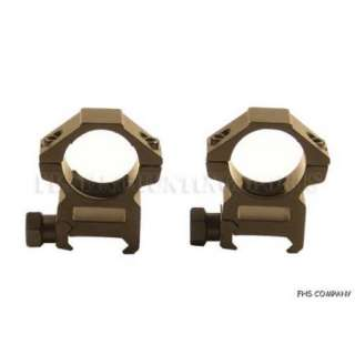 Picatinny base 1 in tube aluminum rifle scope ring