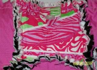 Pucci Safari Hot PInk Black Rag Quilt Diaper Bag Tote