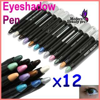 12 PCS Different Color Cosmetic Eyeshadow Pen Lip Eye Liner Makeup