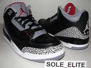 NEW 2011 DS Nike Air Jordan Retro BLACK CEMENT 3 III sz 6.5 Y