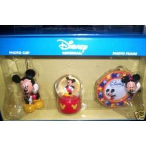 Disney Mickey Mouse Photo Clip/Waterball/Photo Frame
