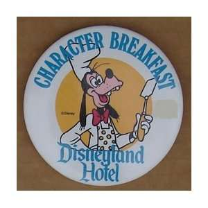 Goofy Disneyland Hotel Character Breakfast 3 Button
