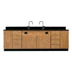 Diversified Woodcrafts 3236K Wall Service Bench w/ Storage Cabinets
