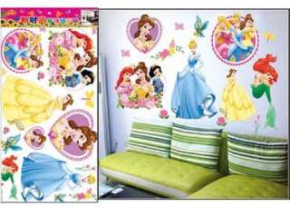 Castle Disney Princess Kid Butterfly Mural Wall Decal Sticker Vinyl