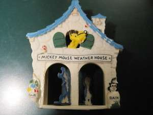 VINTAGE DISNEY MICKEY MOUSE WEATHER HOUSE
