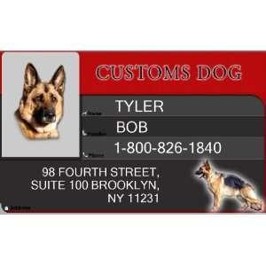 CUSTOMS ID Badge   1 Dogs Custom ID Badge   Design#3