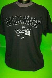 2012 KEVIN HARVICK # 29 BUDWEISER VINTAGE NASCAR TEE SHIRTS