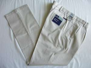 DOCKERS Polished Khaki Pleated Slacks Pants 40 x 34 NEW