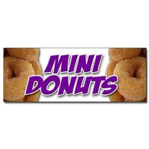 12 MINI DONUTS DECAL sticker donut fried dough sugar chocolate mini
