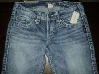 CUTE Red Label Silver Jeans Frances Capri Size W24 NEW