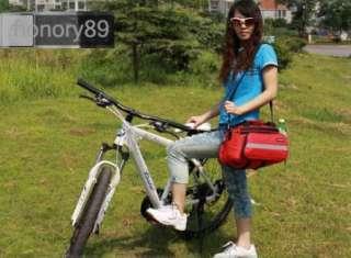 Cycling Bicycle Bag Bike rear seat bag pannier Red