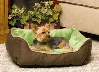 Warming Eco Friendly Dog Cat Pet Bed Mocha/Green 655199031610