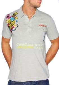 Ed Hardy by Christian Audigier Death or Glory Premium Polo Tee T Shirt