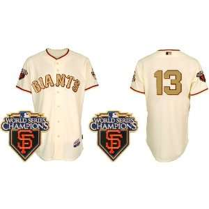 San Francisco Giants #13 Cody Ross Cream Gold 2011 MLB
