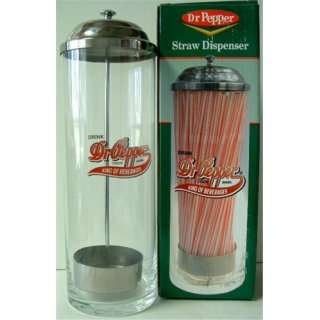 Dr. Pepper Straw Holder Soda Collectible New Vintage Looking Dispenser
