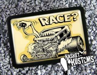 Hot Rod Race Rat Fink Retro Art Belt Buckle BB 329 RB