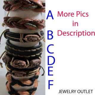 Leather Hemp Bracelet /Ethnic/Surfer/Gothic/Cuff/Casual
