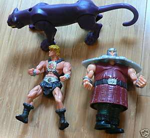 Lot of 3 McDonalds He Man MOTU Figures Ram Man Panthor