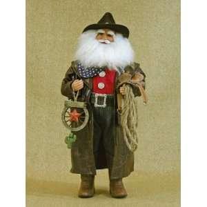 Karen Didion Originals Santa Claus Cowboy Christmas