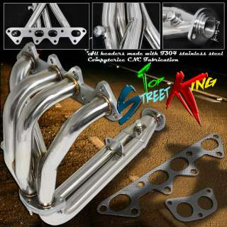 STAINLESS STEEL RACING MANIFOLD HEADER/EXHAUST 94 97 HONDA ACCORD 2.2
