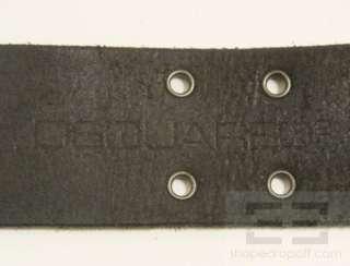 DSquared2 Black Silver Studded Leather Grommet Mens Belt