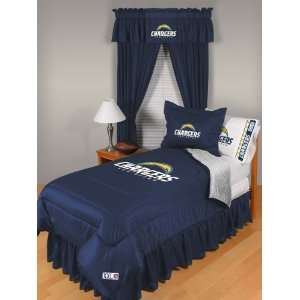 NFL San Diego Chargers Locker Room Twin Comforter