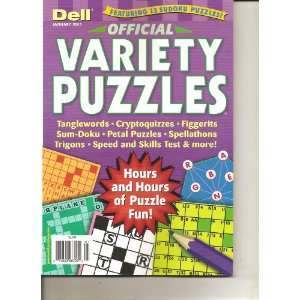 Dell Official Variety Puzzles (January 2011) Various